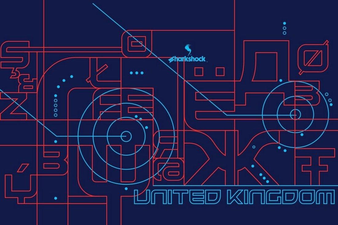 United-Kingdom 30+ Best Modern & Futuristic Fonts 2021 design tips