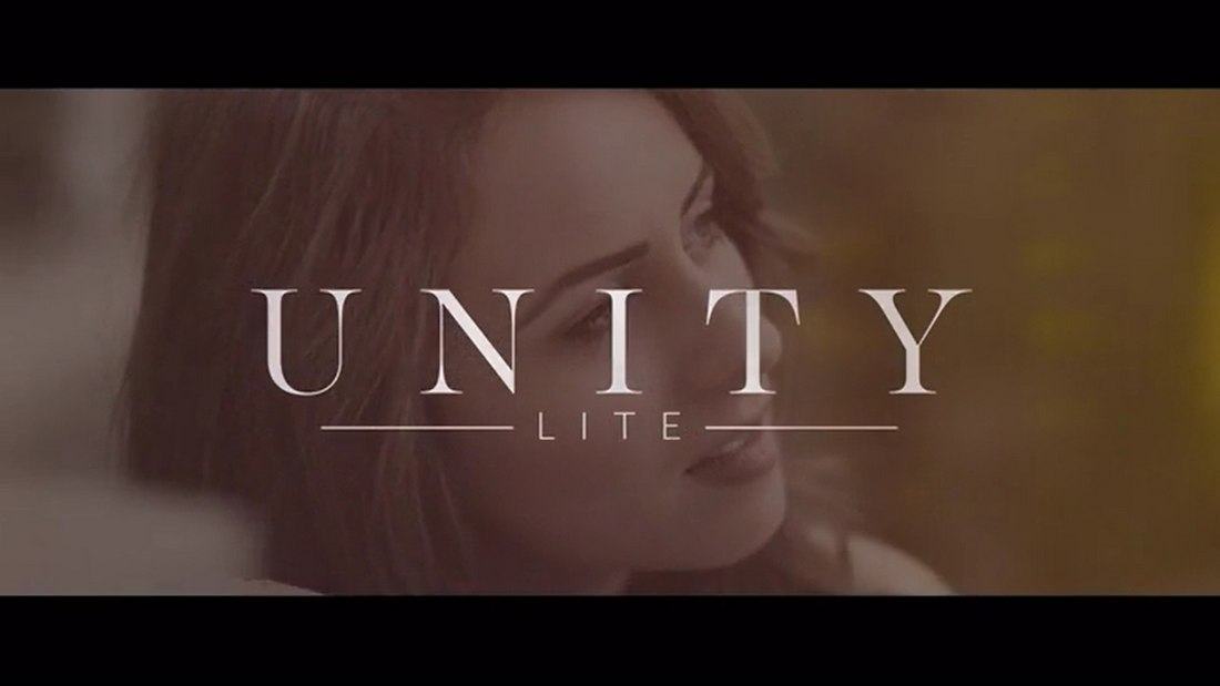 Unity Lite - Free Wedding Titles After Effects Template