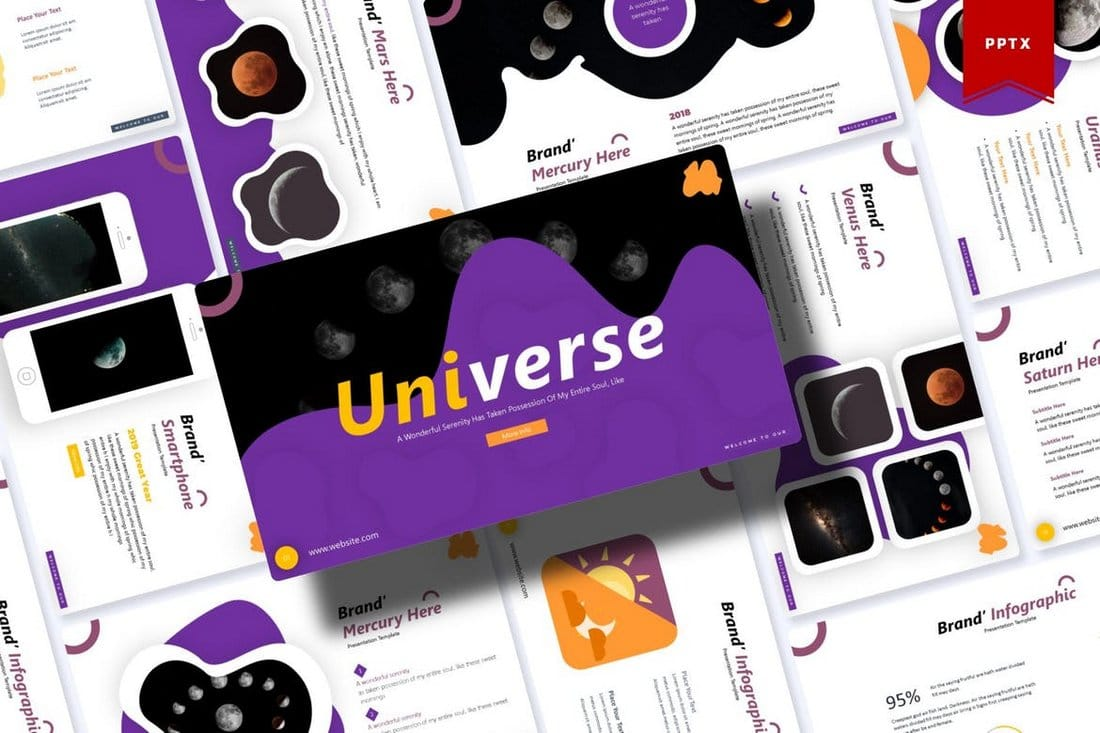 Universe-Powerpoint-Template 60+ Beautiful, Premium PowerPoint Presentation Templates design tips  Inspiration|microsoft|powerpoint|presentation|template