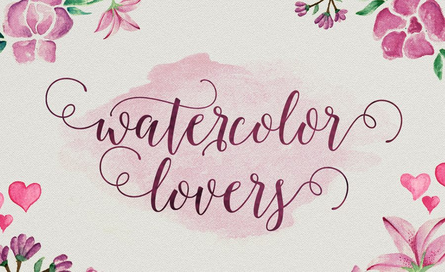 Beautiful script brush calligraphy fonts design