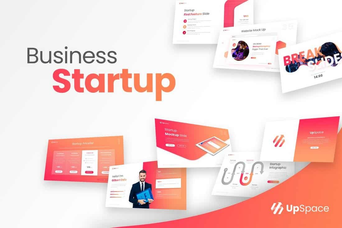 UpSpace- Business Startup PowerPoint Presentation