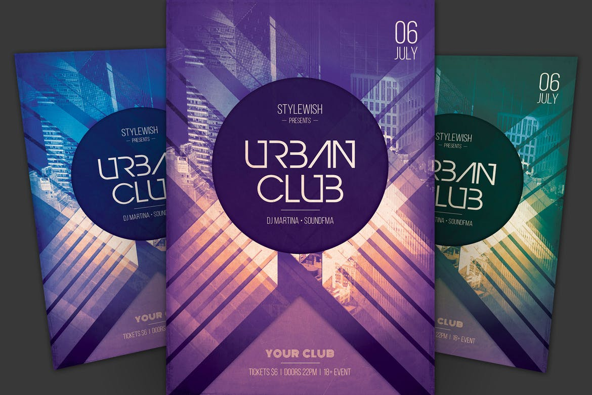 Urban-Club-Flyer-Template 30+ Best Event Flyer Templates design tips