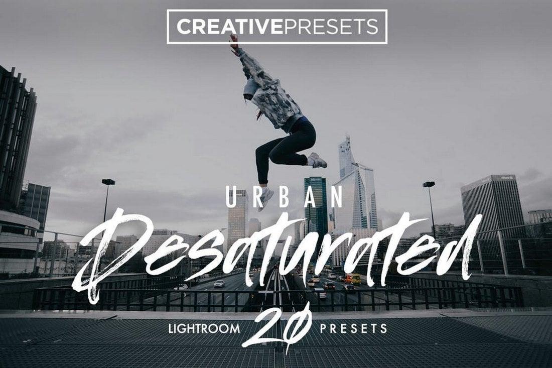 Presets Lightroom urbains désaturés