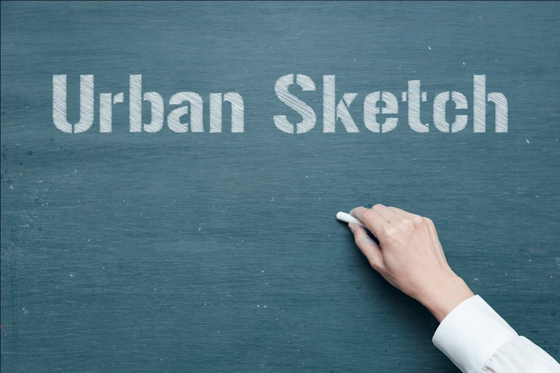 Urban Sketch - Free Chalk Font