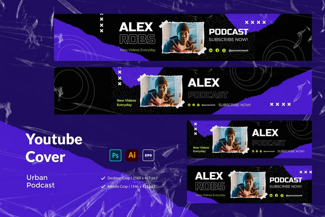 Urban Style Youtube Cover Template
