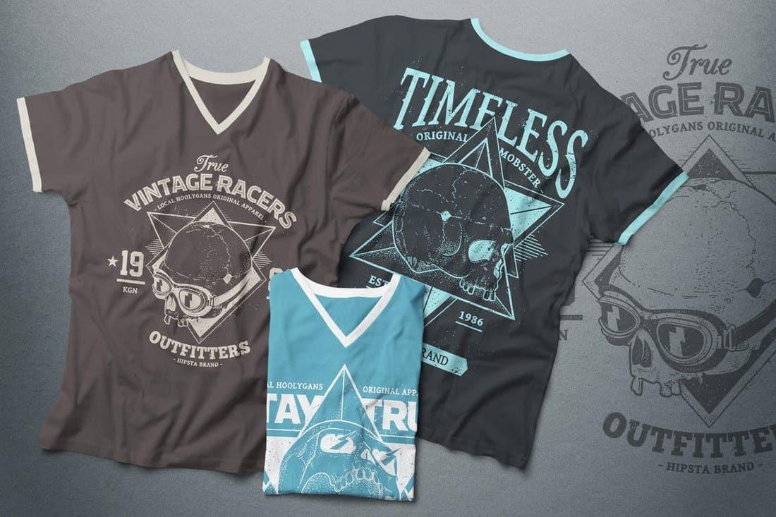 V-Neck T-Shirt Mockup Male Version