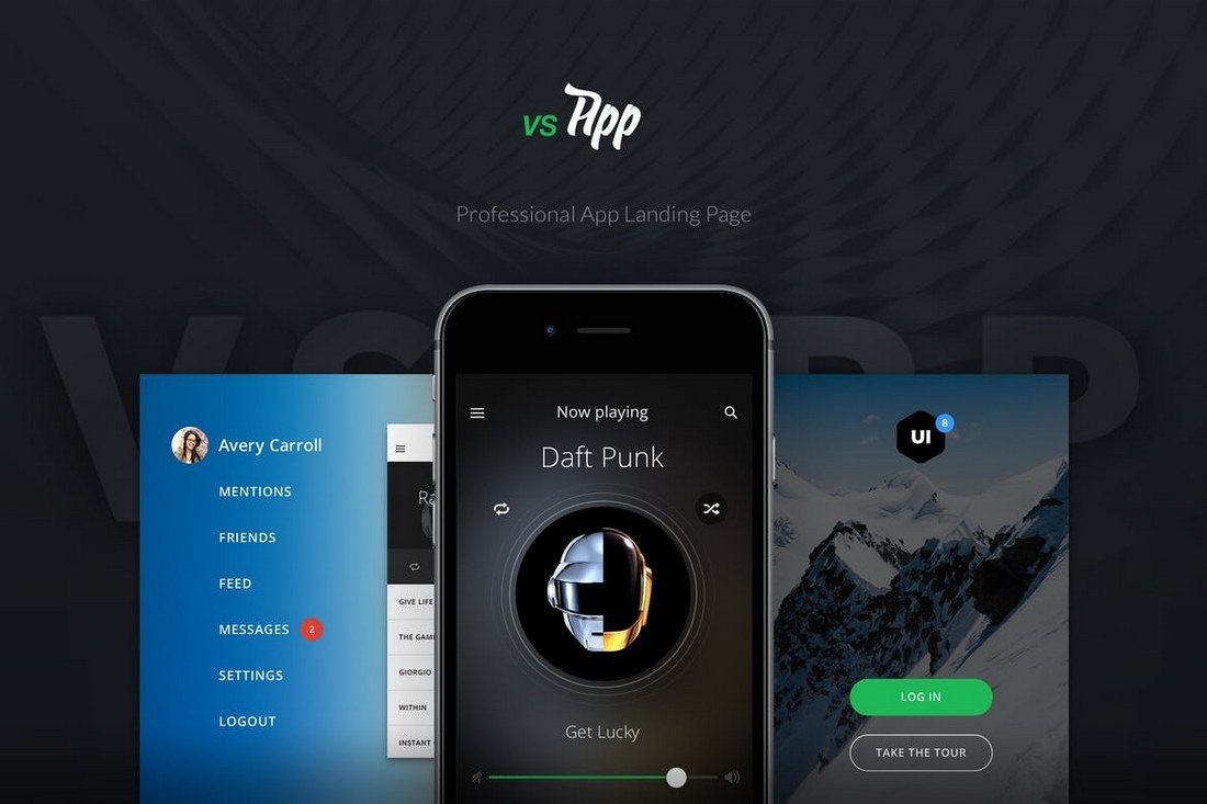 VSApp-Ultimate-App-Landing-Page 50+ Best App Landing Page Templates 2021 design tips