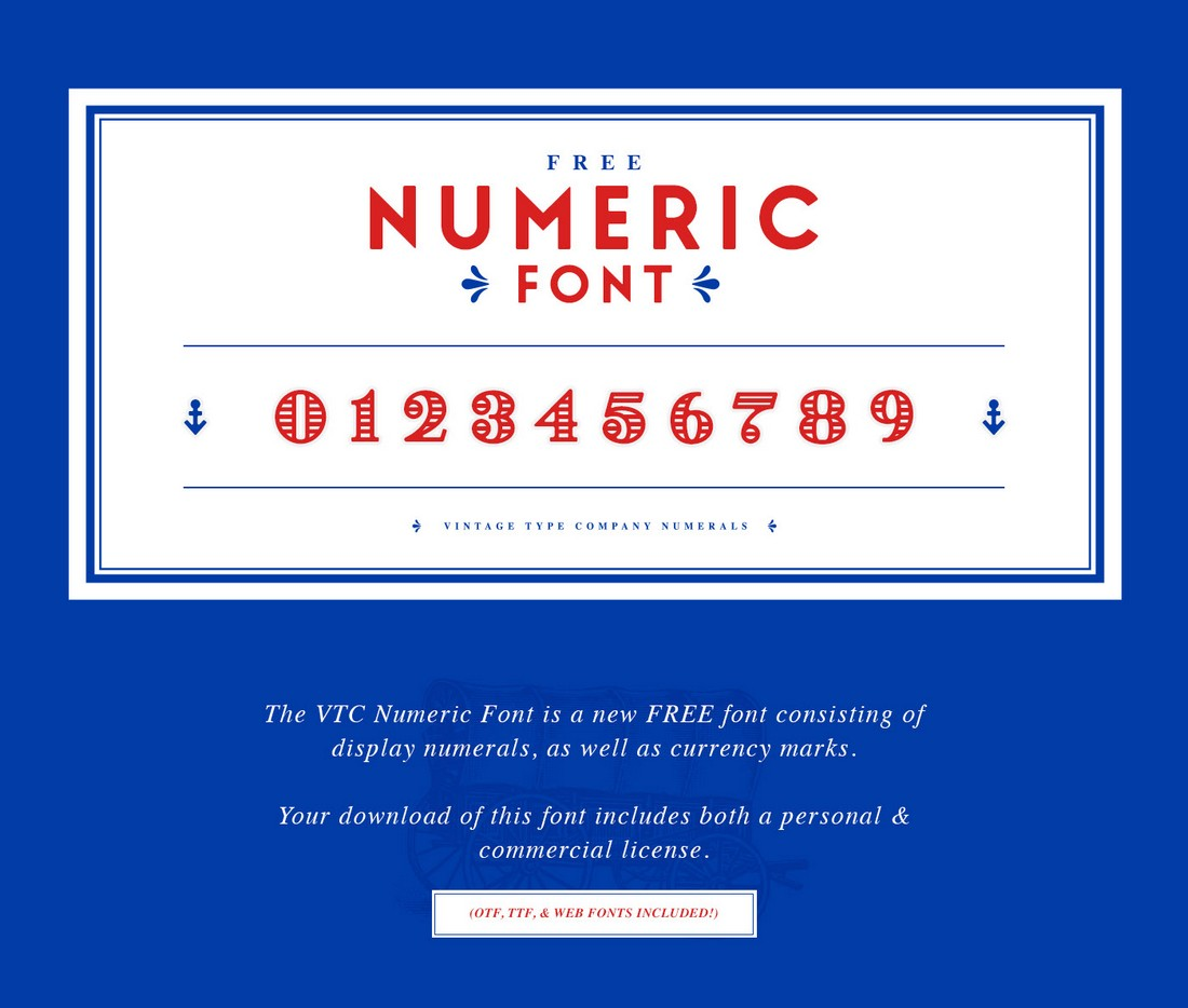VTC Display - Free Numbers Font