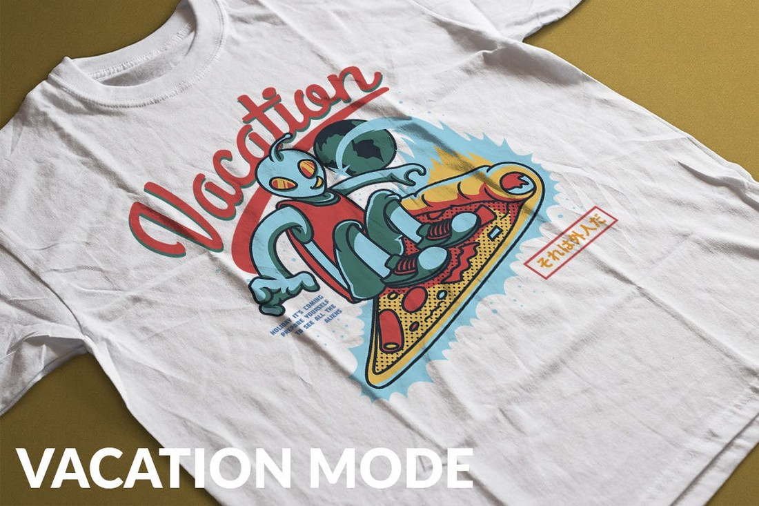Vacation Mode - Quirky T-Shirt Design