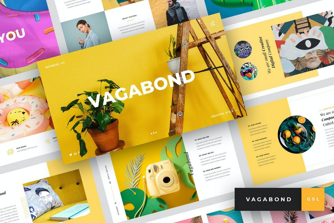 Vagabond - Colorful Google Slides Template