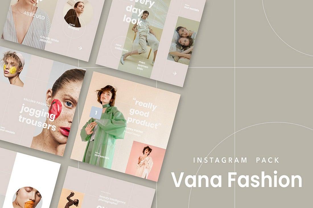 Vana - Free Fashion Instagram Post Templates
