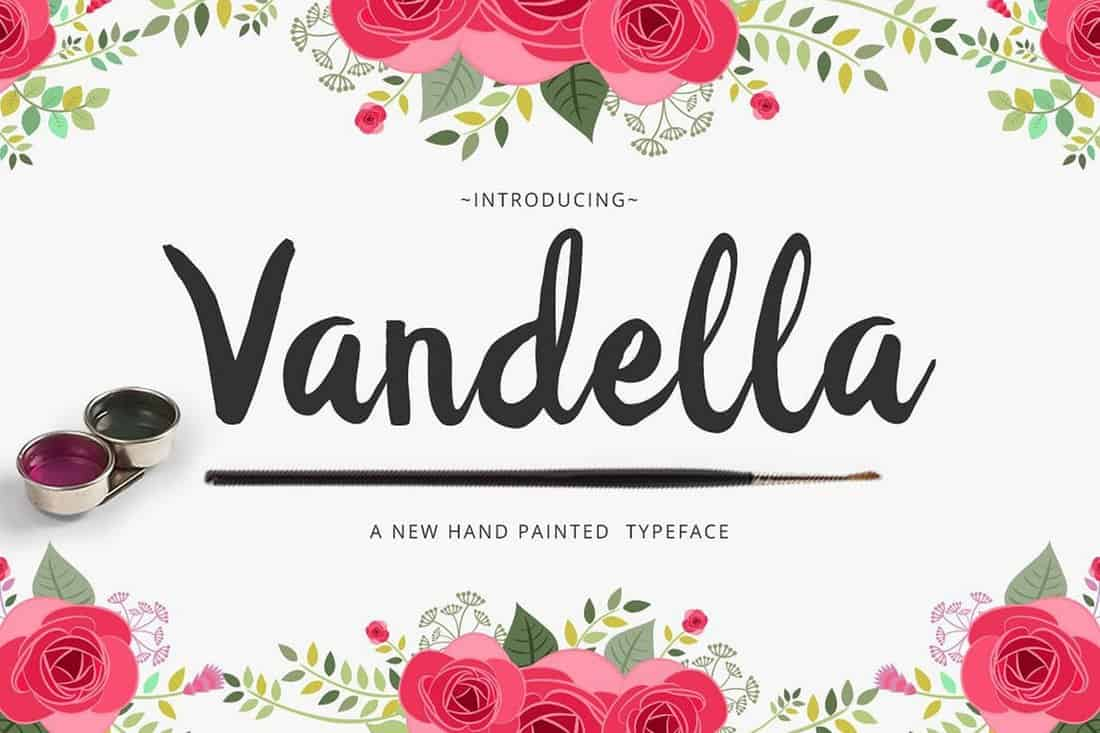 Vandella - Hand-Inked Script Font
