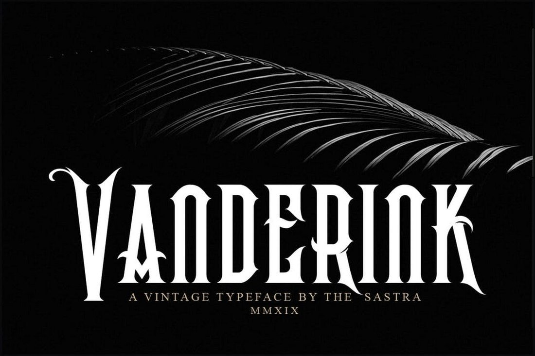Vanderink-font 30+ Best Tattoo Fonts & Lettering design tips  Inspiration|tattoo
