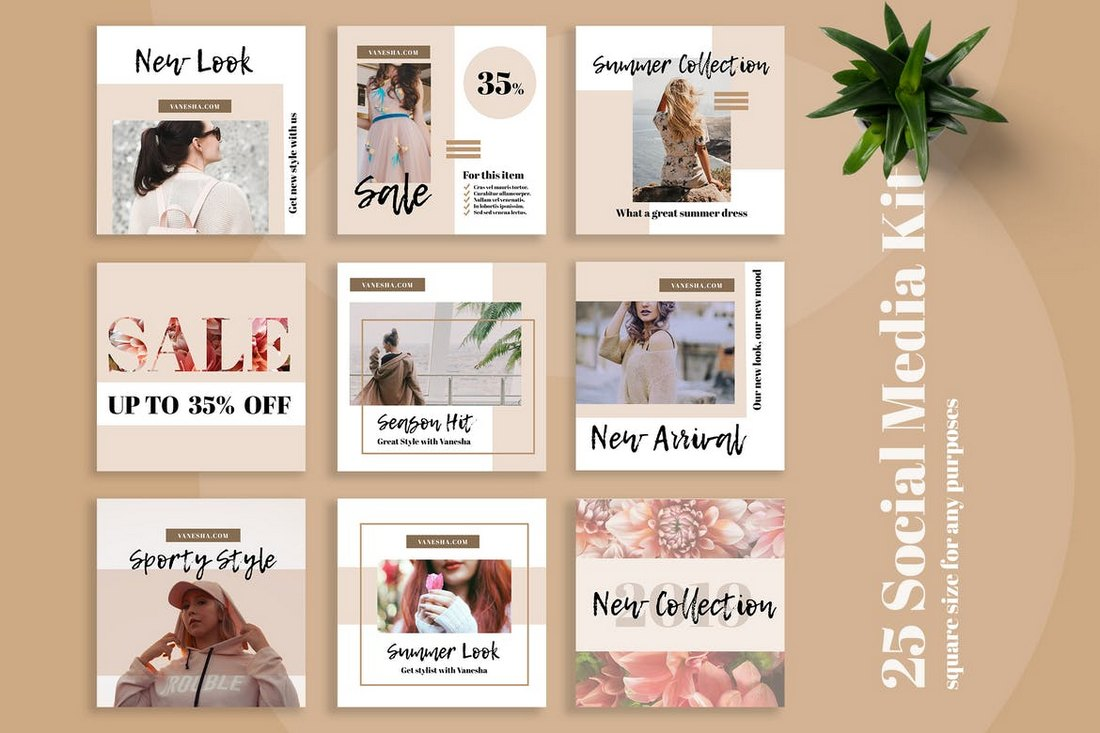 Vanesha-Modern-Social-Media-Kit-Templates 40+ Best Social Media Kit Templates & Graphics design tips  Inspiration|facebook|social media|twitter