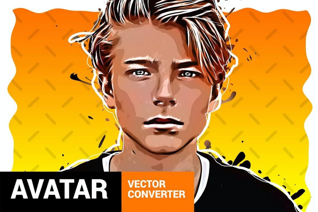 Vector Converter - Cartoon Avatar Photoshop Plugin