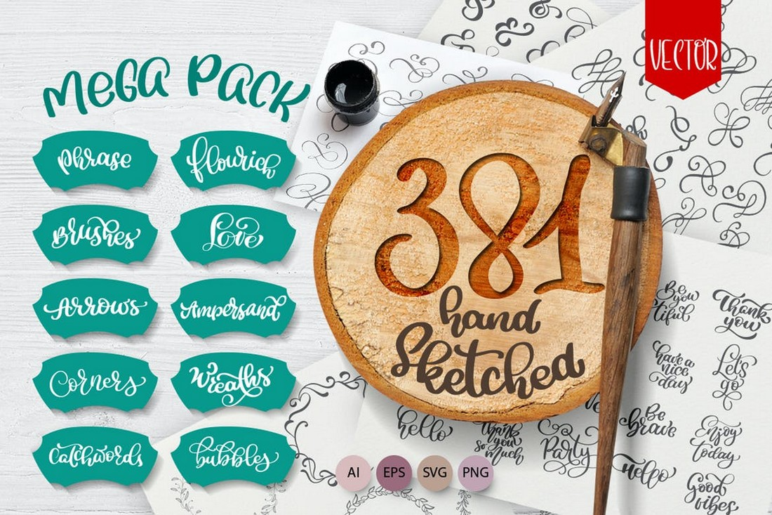 Vector-Hand-Sketched-Mega-Pack 15+ Best Affinity Designer Brushes design tips