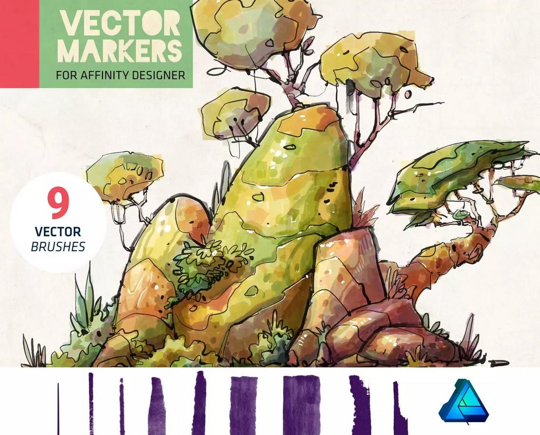 Vector-Markers-Free-Affinity-Designer-Brushes