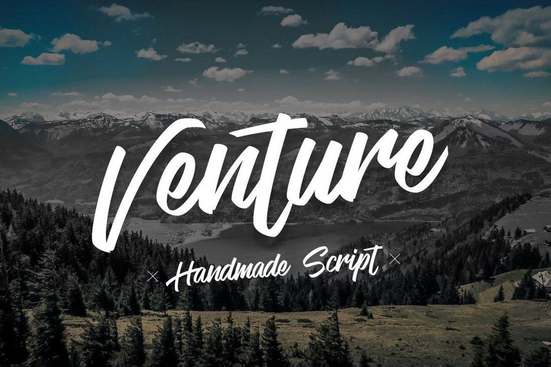 Venture-Handmade-Font-Script 30+ Best Hand Lettering Fonts design tips