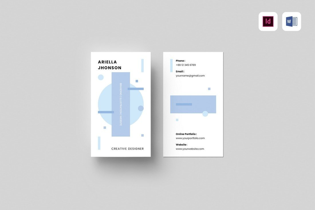Vertical-Business-Card-Template-for-Google-Docs 20+ Business Card Templates for Google Docs (Free & Premium) design tips