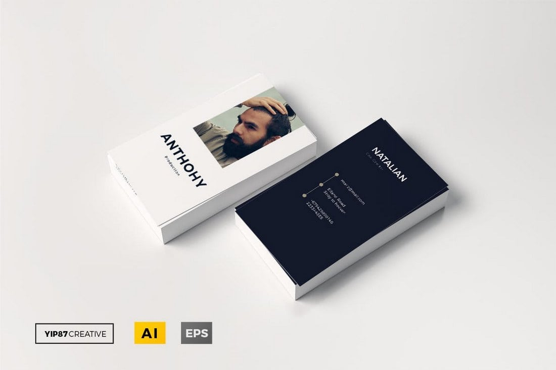 Vertical-Business-Card-Template Photography Business Cards: 20 Templates & Ideas design tips