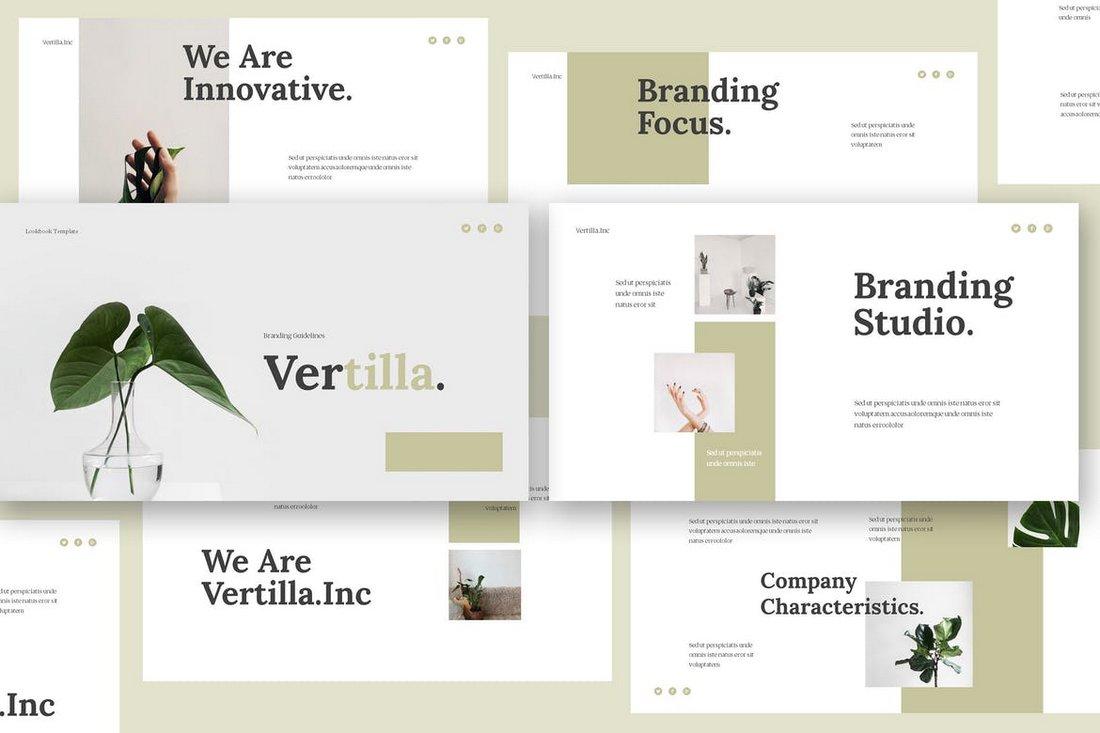 Vertilla - Brand Guideline Keynote Template