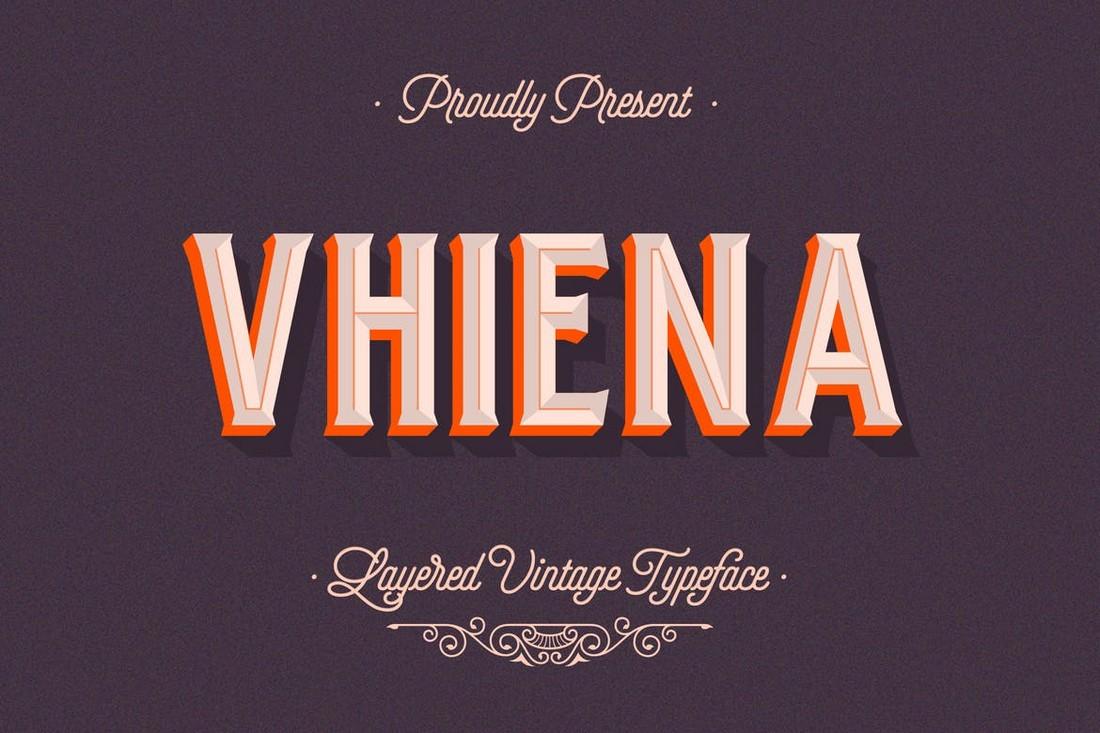 Vhiena - 3D Layered Font