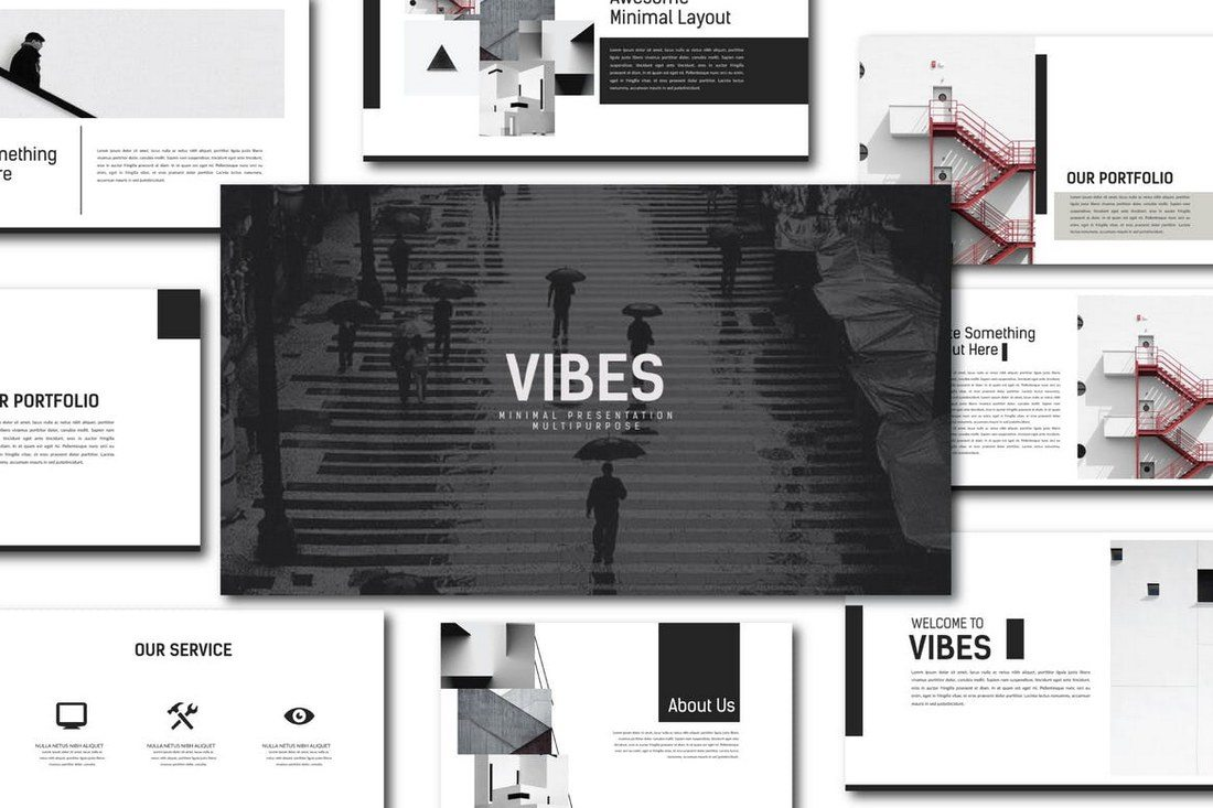 Vibes-Presentation-Keynote 30+ Best Minimal & Creative Keynote Templates design tips