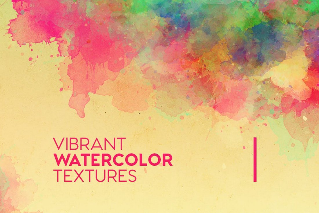 Vibrant Watercolor Textures