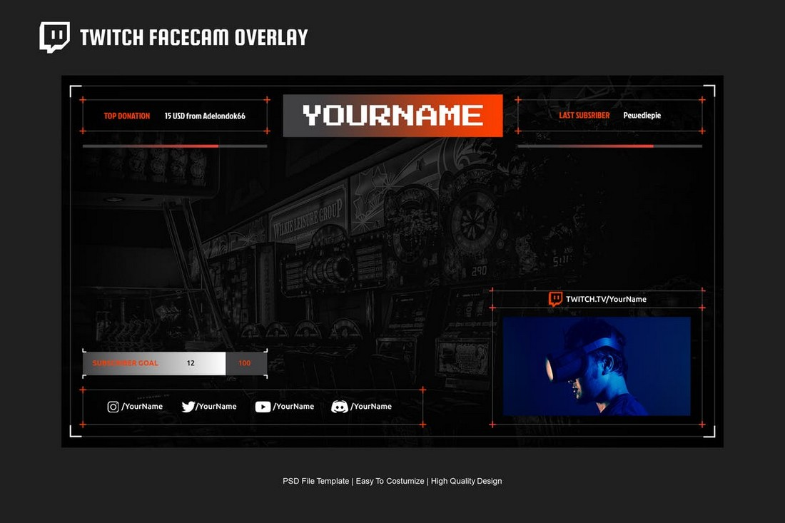 Video Streaming - Twitch Overlay Template