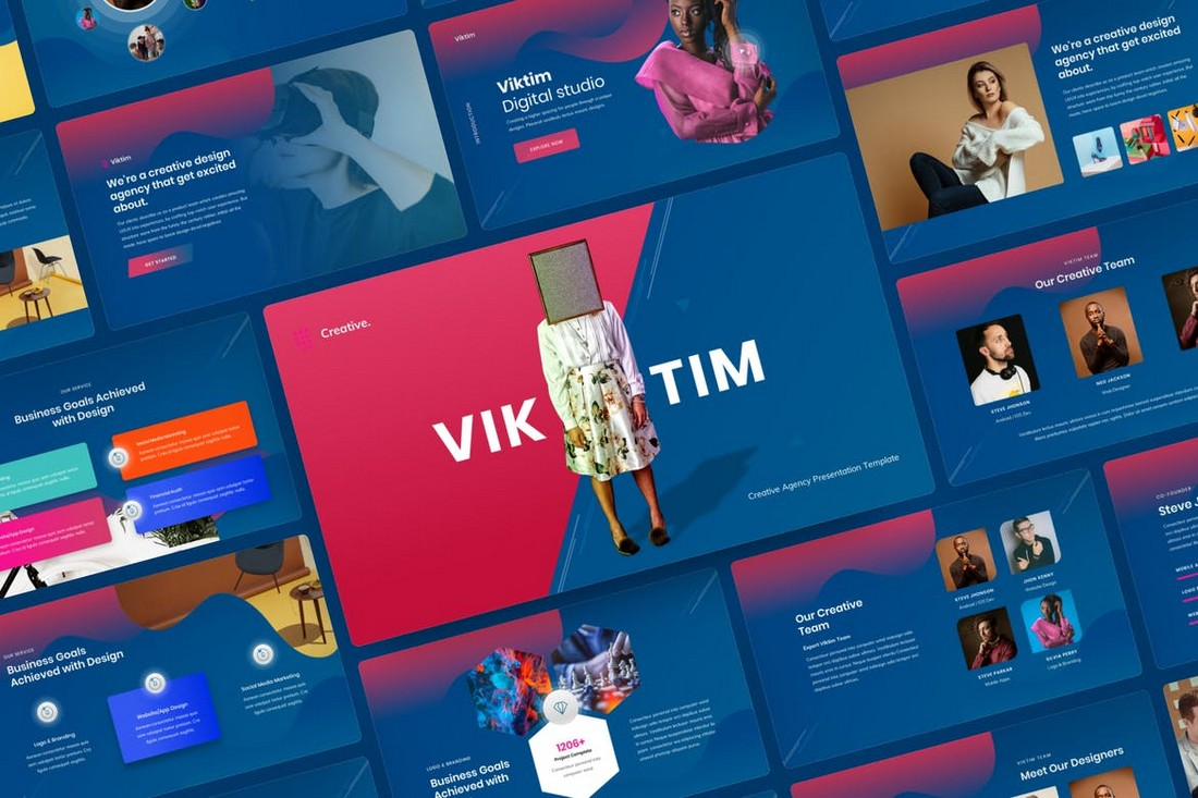 Viktim - Creative Agency Google Slides Template