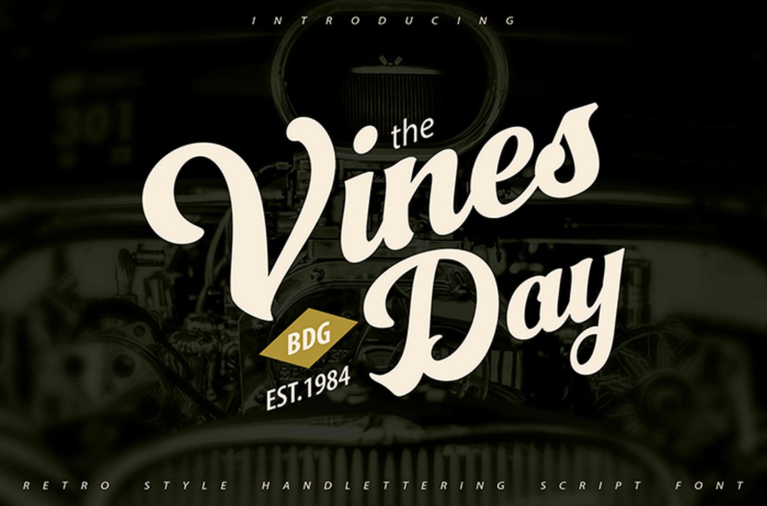 Vinesday - Script Poster Font