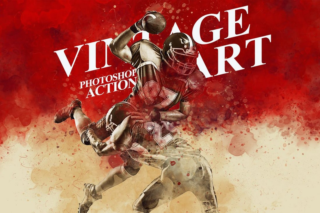 Vintage Art Photoshop Action