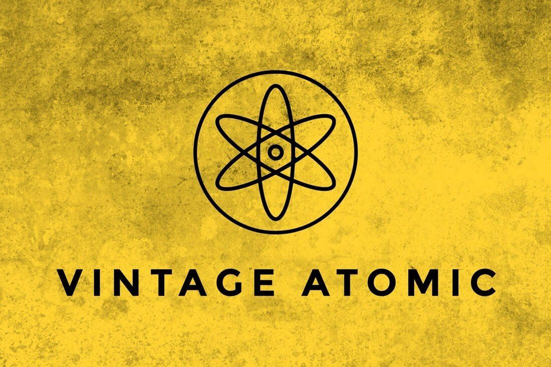 Vintage-Atomic-Texture-Brushes 30+ Best High-Quality Photoshop & Illustrator Brushes design tips