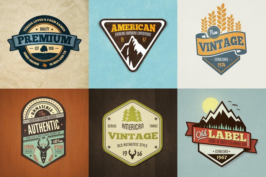 Vintage Badge & Logo Templates