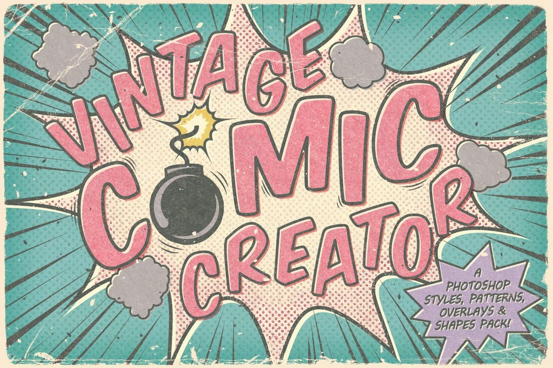 Vintage-Comic-Creator-Photoshop-Layer-Styles 20+ Best Photoshop Layer Styles in 2021 (Free & Premium) design tips
