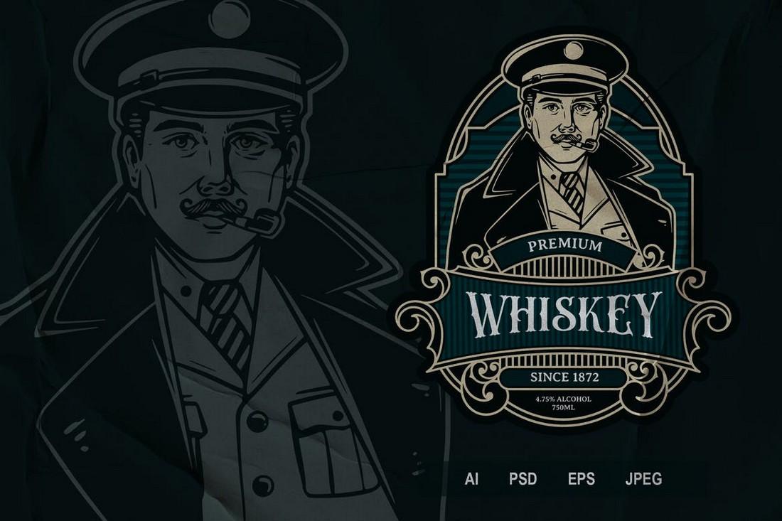 Vintage Drink Label & Logo Template