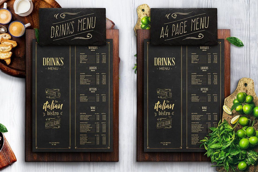 Best food drink menu templates design shack