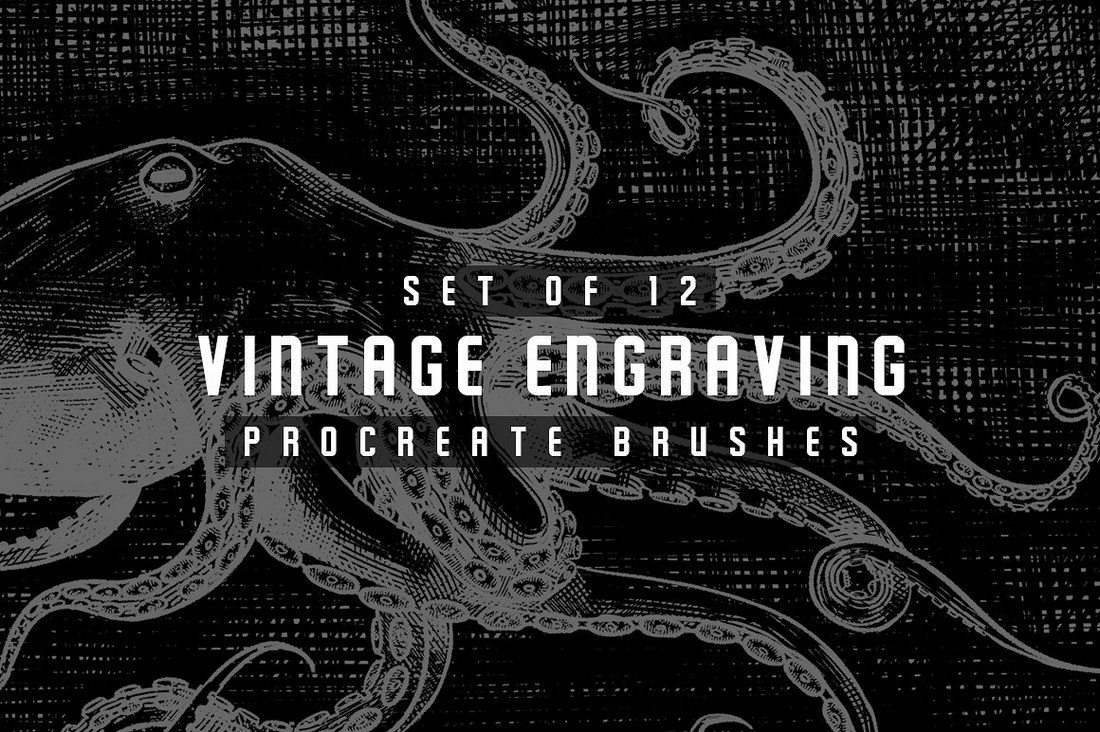Vintage-Engraving-Procreate-Brushes 30+ Best Procreate Brushes design tips