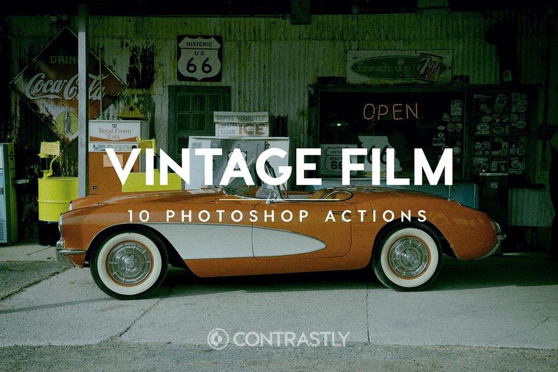 Vintage-Film-Photoshop-Actions 20+ Best Vintage & Retro Photoshop Actions design tips
