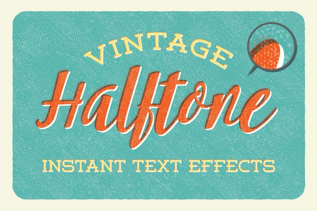 Vintage-Halftone-Instant-Text-Effects 30+ Best Retro Text Effects & Styles design tips