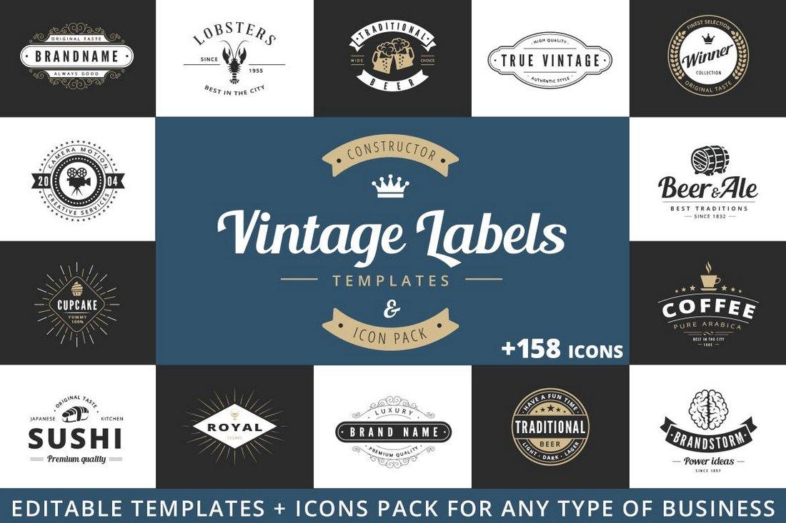Vintage-Labels-Sign-Templates 20+ Best Sign Templates & Mockups design tips