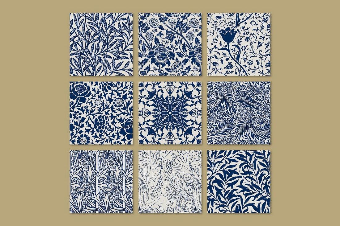 Vintage Leaf Seamless Pattern Background