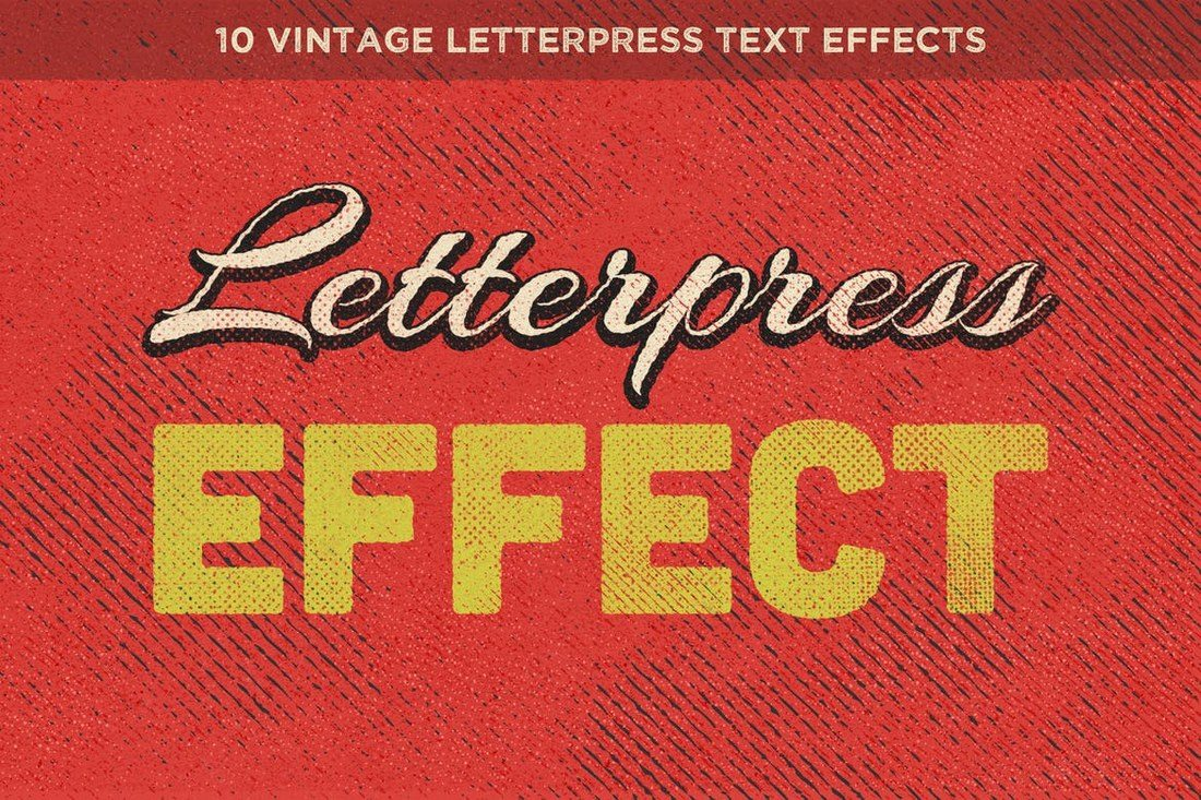 Vintage-Letterpress-Text-Effects-Vol.-1 30+ Best Retro Text Effects & Styles design tips