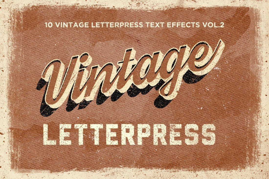 Vintage-Letterpress-Text-Effects-Vol.-2 30+ Best Retro Text Effects & Styles design tips