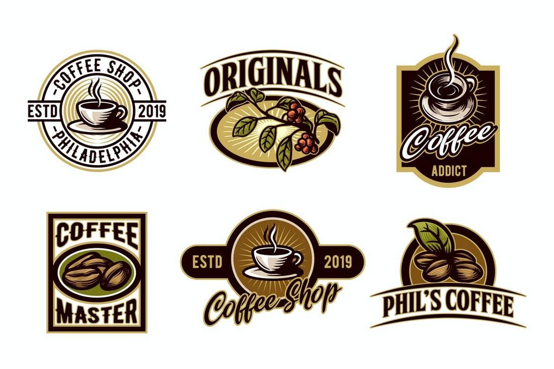 Vintage Logo & Emblem Templates for Coffee Brands