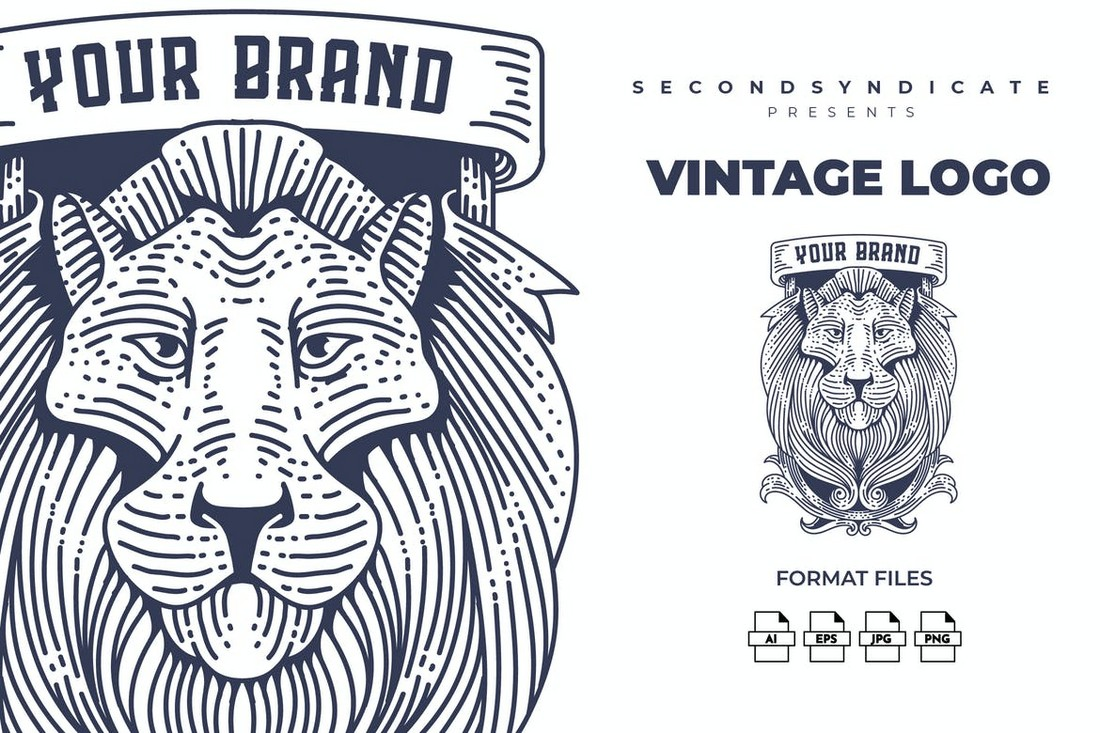 Vintage Logo Template with Luxury Design