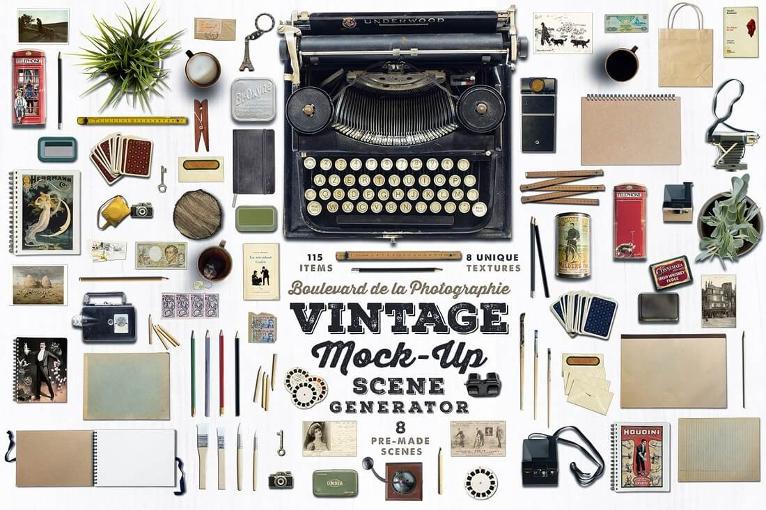 Vintage-Mock-Up-Scene-Generator 40+ Stunning Vintage Mockup Packs & Graphics design tips