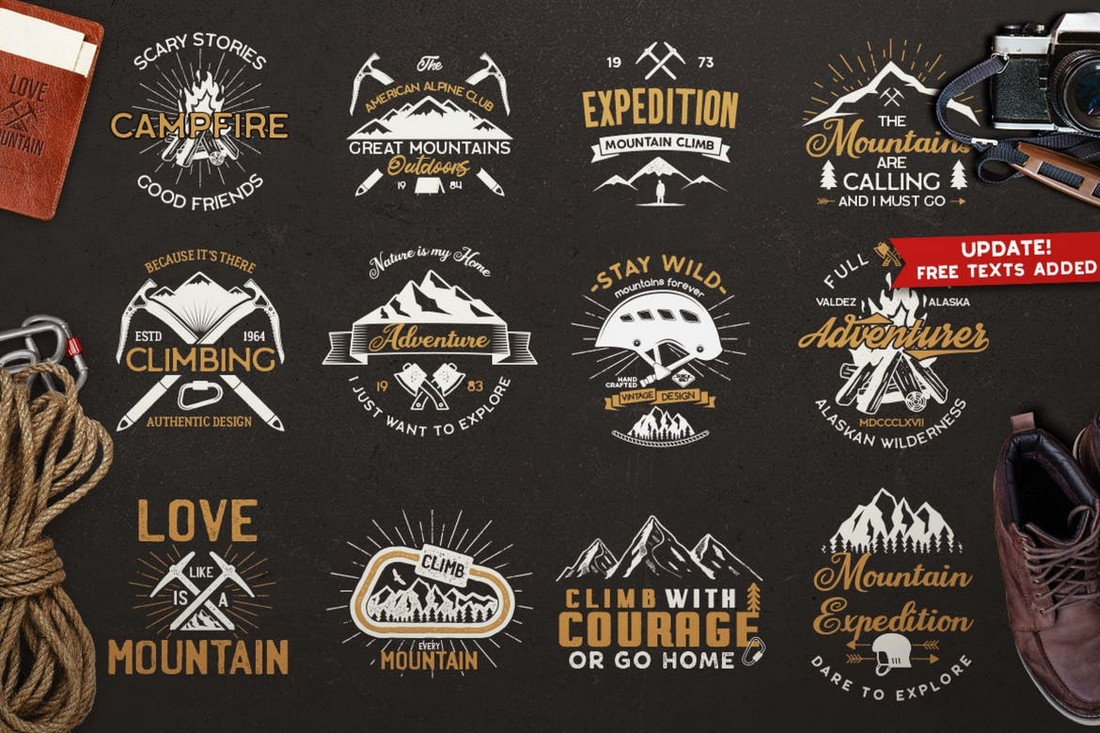 Vintage Outdoor Travel & Adventure Logo Badge Templates