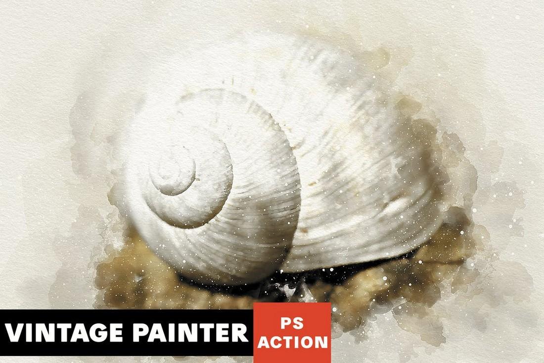 Vintage-Painter-Photoshop-Action 50+ Best Photoshop Actions of 2020 design tips  Inspiration|actions|photoshop