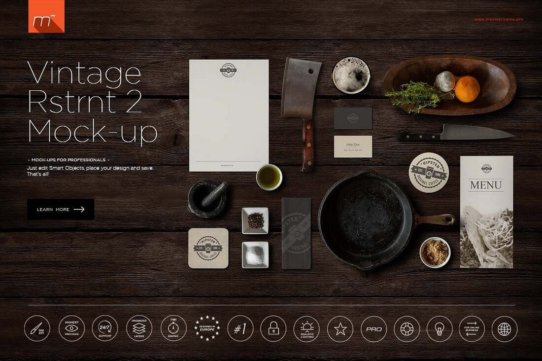 Vintage-Restaurant-2-Mock-up 40+ Stunning Vintage Mockup Packs & Graphics design tips